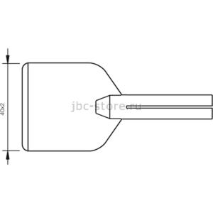 Наконечник JBC PL-65 (0650804) для 65ST (лопатка 40,0 х 2,0 мм)