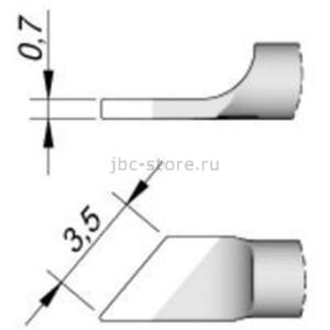 Наконечник JBC C120-007 лопатка наклонный 3,5 мм (правый)