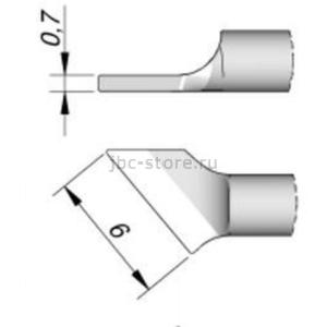Наконечник JBC C120-010 лопатка наклонный 6,0 мм (левый)